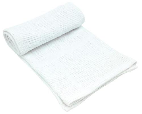 Kikkaboo takaró pamut kötött aprómintás #70x100 cm #fehér