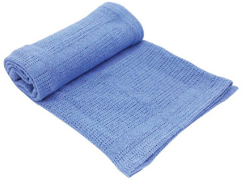 Kikkaboo takaró pamut kötött aprómintás #70x100 cm #kék