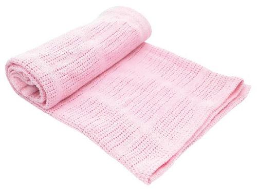Kikkaboo takaró pamut kötött aprómintás #70x100 cm #pink