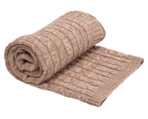 Kikkaboo takaró pamut kötött csavart mintás #70x100 cm #melange bézs