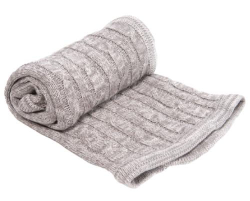 Kikkaboo takaró pamut kötött csavart mintás #70x100 cm #melange szürke