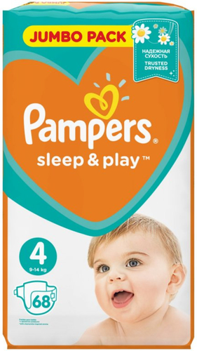Pampers 4 Sleep and Play Jumbo pelenka Maxi 68 db