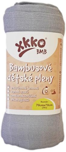 Xkko Bambusz Textilpelenka 70x70 #Ezüst 3db #BMB070025