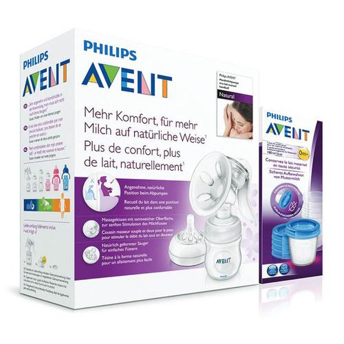 Philips Avent kézi mellszívó natural via pohárral