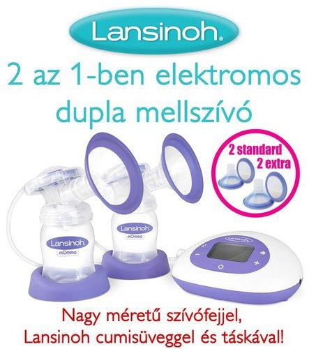 Lansinoh 2 az 1-ben dupla elektromos mellszívó